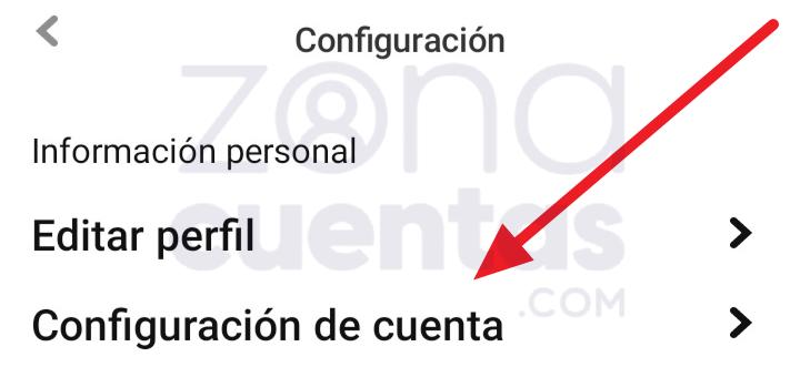 Acceder a configuración de la cuenta en Pinterest