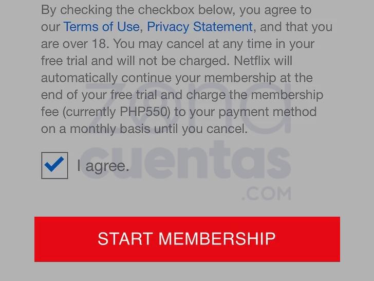 Comenzar suscripción gratis de Netflix