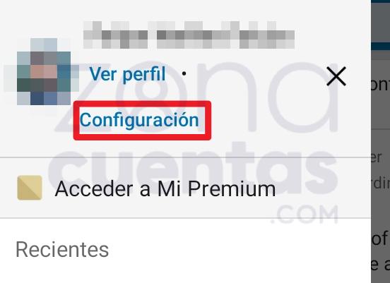 Cómo entrar a Configuración en LinkedIn