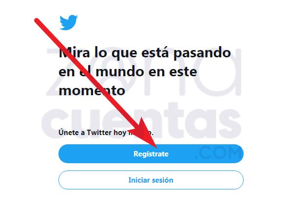 Cómo registrarse en Twitter desde la pc