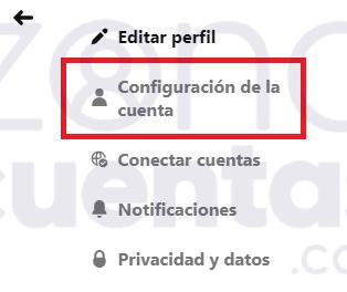 Configuración de la cuenta de Pinterest