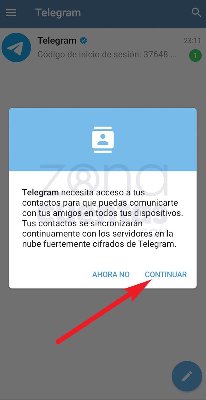 Continuar en Telegram