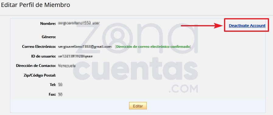 Desactivar cuenta de Aliexpress