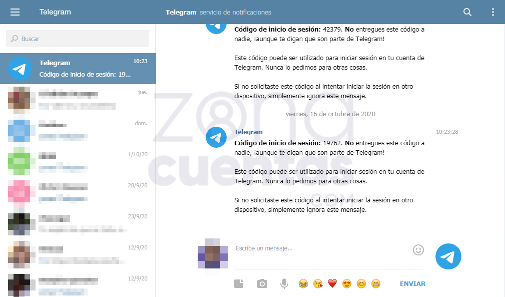 Entrar a Web Telegram