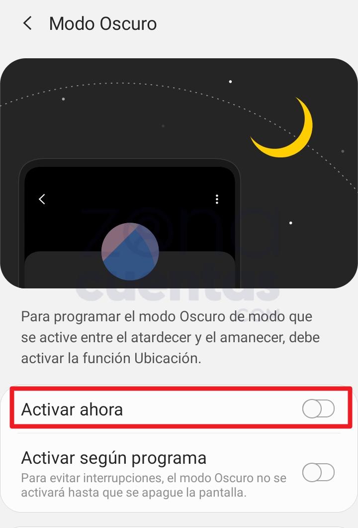 Habilitar modo oscuro para Instagram en Android