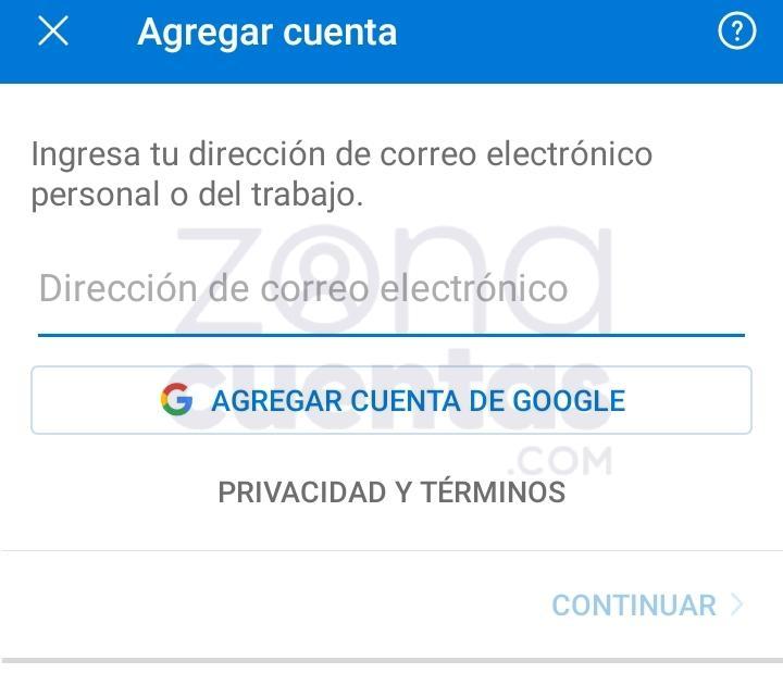 Ingrasar Hotmail en app