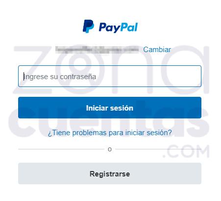 Ingresar a PayPal