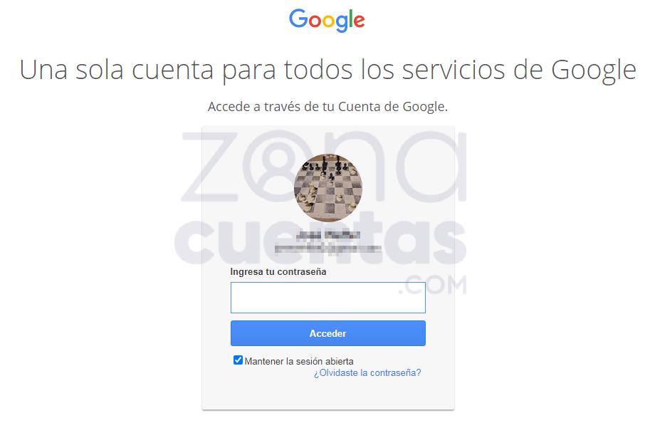 Ingresar contraseña en Gmail para login