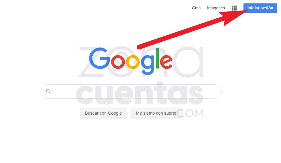 Iniciar sesión desde el inicio de Google
