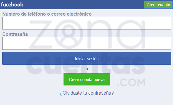 Iniciar sesión en Facebook móvil