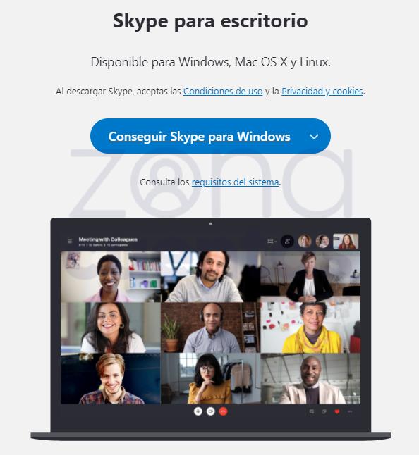Iniciar sesión en Skype para escritorio 1