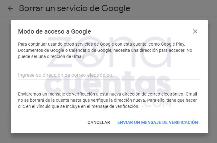 Modo de acceso a Google