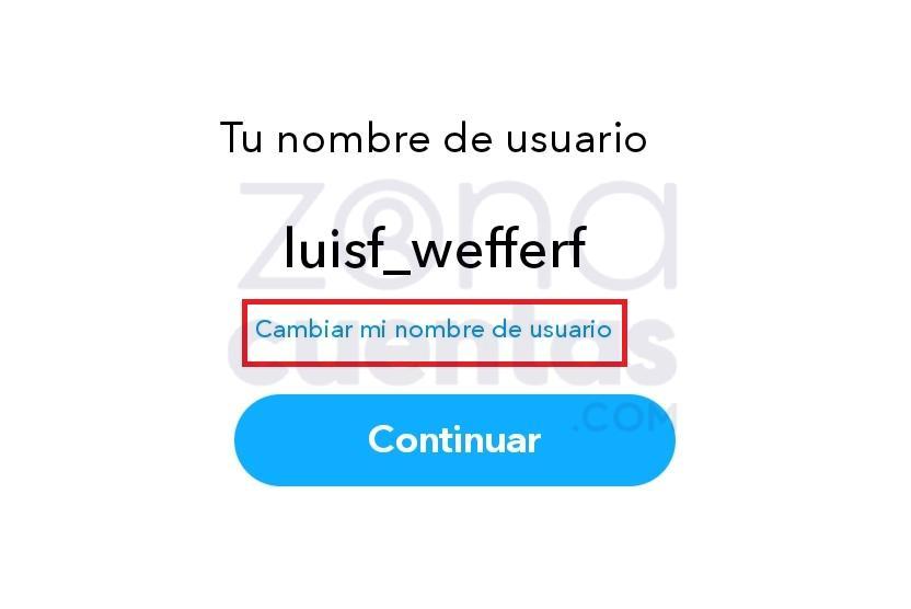 Nombre de usuario de Snapchat