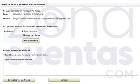 Pasos para eliminar una cuenta de Amazon Prime