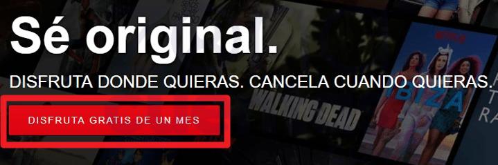 Registrarse en Netflix Gratis