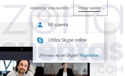 Usar Skype web