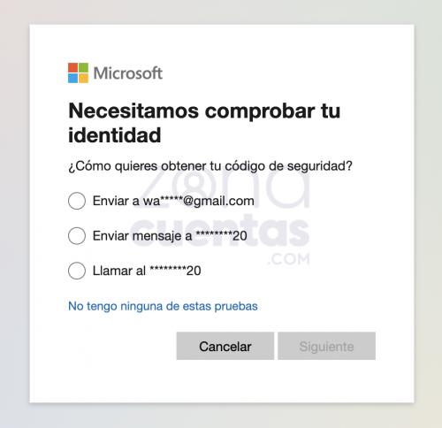métodos para recuperar cuenta Hotmail