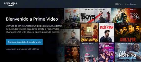 Acceder a Amazon Prime Video