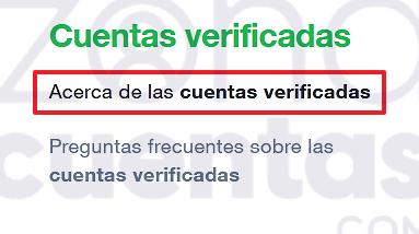 Apartado de cuentas verificadas de Twitter