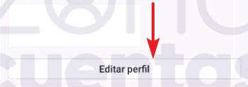 Botón de editar perfil