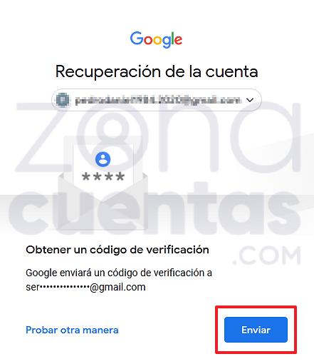 Enviar correo de verificación de Gmail