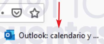 Hotmail en la barra de marcadores