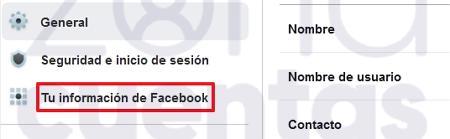 Información para cerrar cuenta de Messenger
