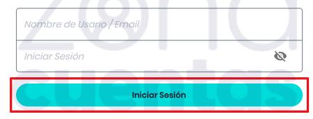 Introducir datos para iniciar sesión en POF