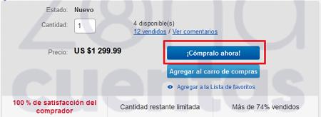 Comprar en eBay como invitado