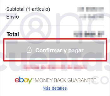Confirmar y pagar artículo en eBay