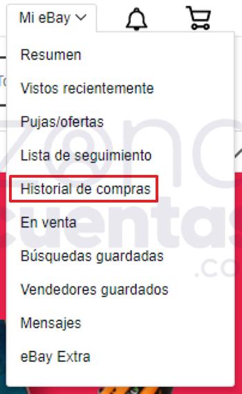 Historial de compras eBay
