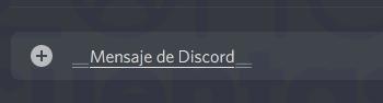 Mensaje subrayado en Discord
