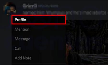 Perfil de amigo en Discord