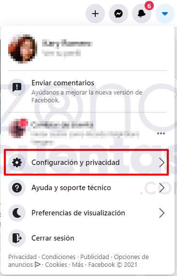 Configuración para desbloquear un usuario en Facebook