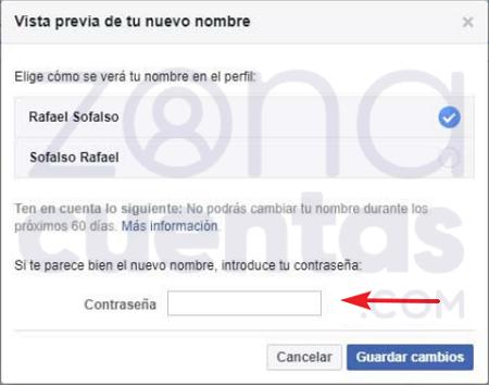Nombre en facebook cambiar Cómo Tener