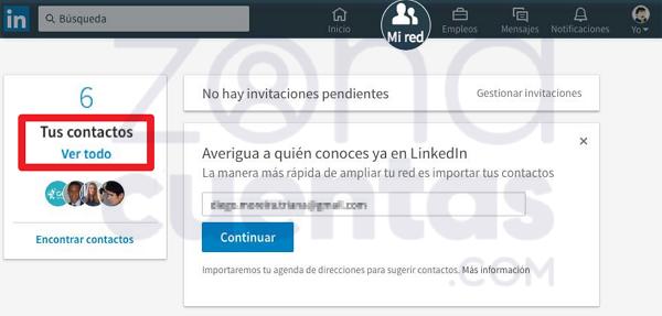 Cómo borrar un contacto de LinkedIn