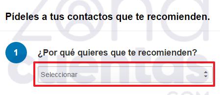 Recomendación a pedir en LinkedIn 2