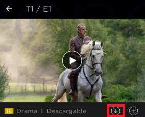 Botón de descarga HBO
